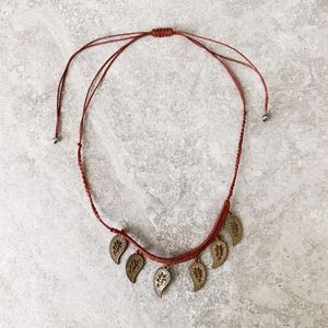Free People Red Tribal Necklace